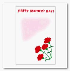 母の日 メッセージ カード 無料