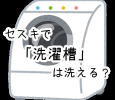 セスキ炭酸ソーダ 洗濯槽 ドラム式
