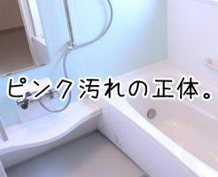 お風呂 ピンク 落とし方